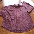 ARROW MEN'S Red Plaid Long Sleeve SHIRT Size XL Wrinklefree 001SHIRT-39 location99