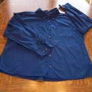 Blue BASIC EDITION MEN'S Long Sleeve Button Front SHIRT Size 2X  001SHIRT-49 location99
