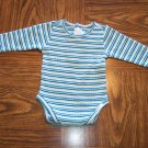 THE CHILDREN'S PLACE INFANT Girls Multi Stripe Long Sleeve Onesie TOP 3 - 6 Months (bin3)