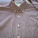 HAGGAR MEN'S Long Sleeve Red Plaid Button SHIRT Size XL Extra Large 001SHIRT-51 location98