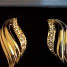 Retired Avon 1994 CHANTALLE Clip EARRINGS Goldtone