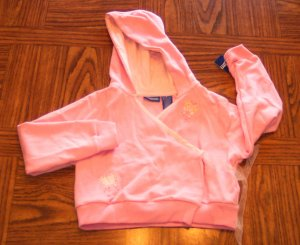 GENUINE KIDS FROM OSHKOSH GIRL'S Pink Butterfly Hooded Jacket Style 110837 Size 6 locationw4