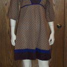 Retro Baby Doll Hippie 3/4 Quarter Sleeve FOREVER DRESS Top Size Large L