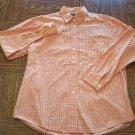 BKLE Orange Check BLOUSE Shirt Top Size M Medium locationw12