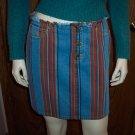 RALPH LAUREN Denim Striped Pencil Mini SKIRT Size 4 001s-46 Womens Skirts locationw4