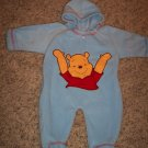 DISNEY Winnie The Pooh Fleece Footed Bunting INFANT Unisex Blue 0 - 3 Months locationw9