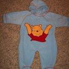 DISNEY Winnie The Pooh Fleece Footed Bunting INFANT Unisex Blue 0 - 3 Months locationw9