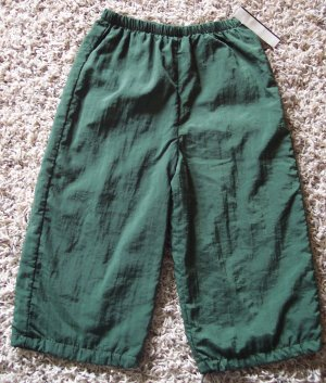 Boy's Wind Pants Lined Athletic 24 Months Green locationw8