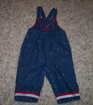 Cherries Line GYMBOREE Dec 2001 Line INFANT Girl's Overalls Outfit 6 - 12 Months locationw4