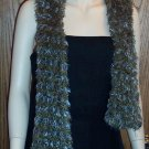 Stunning Knit Olive Turquoise Scarf Big and Bold locationw13