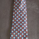 New KETCH Men's TIE NECKTIE Orange Gray Geo Print Pattern location98