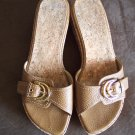 Stuart Weitzman Leather SANDALS Wedges Shoes Size 6 1/2 B locationw13