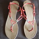 Dexter Orange Braided Thong SANDALS Shoes Size 8 1/2 locationw13