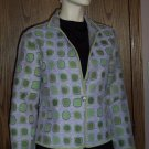 Sophisticated Tweed Chenile Mint Lavender Jacket Size Medium Large