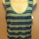 Evan Picone Stripped Tank Top Size L Large wt-13 location4