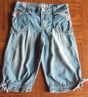 GLO Jeans Denim Capris Vintage Wash Size 12 gc-2 location5