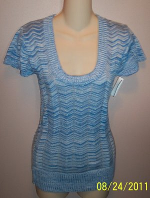 Maurices Feminine Baby Blue Knit Top Size Small S wt-23 location6