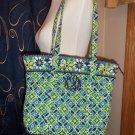 Vera Bradley Daisy Daisy Retired Villager Purse Tote Handbag Monogram KPM location6