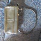 Vintage Amity Olive Green CLUTCH Wallet Handbag Purse locationw1