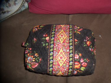 NWOT Vera Bradley Chocolat Retired Large Cosmetic Case with Side Loop Floral Print location15