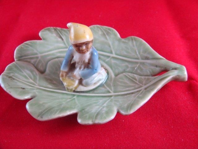 Leprechaun Leaf Dish Shamrock Pottery Made In Ireland
