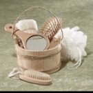 S-62228061 6-Piece Wood Bucket Bath Set