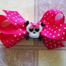 """Punk Princess Hair Bow - Hot Pink & Black 3.5"""""""