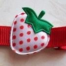 Sweet Strawberry Fields Hair Clippie- No Slip Grip for Fine Hair from Baby to Teen