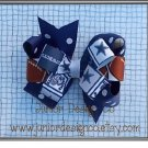"""NFL Inspired Large Hair Bow 4.5"""" - Dallas Cowboys"""