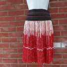 VIVIENNE TAM GORGOUES RED& BLACK SKIRT S