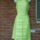 NWT TAHARI A.LEVINE FAB CHARTRUESSE STRIPED DRESS 8