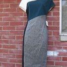 NWT ANNE KLEIN GRAY, GREEN, BLACK COLORBLOCK DRESS 4