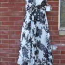 NWT DAVIDS BRIDAL FAB BLACK&WHITE PRINT STRAPLESS DRESS 2