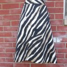NWOT TALBOTS BLACK, BEIGE WHITE ANIMAL PRINT SKIRT 12
