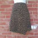 NWOT ANN TAYLOR BROWN ANIMAL SKIRT 6