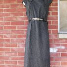 NWOT CONNECTED CHARCOAL FLECK DRESS W BELT 16