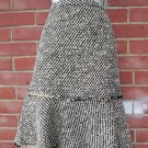NWOT J.CREW BLACK,IVORY GOLD FLECK BOUCLE SKIRT 0