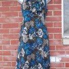 ANN TAYLOR BROWN FLORAL PRINT FEMININE DRESS 2P
