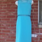NWT CALVIN KLEIN FAB AQUA KNIT SHEER TOP AND MIDDLE DRESS 12