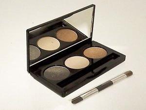 Laura Geller GOLDEN SUNSET Creme Glaze Trio Baked Eyeshadow Palette w/Mini Brush