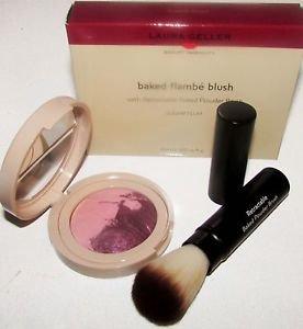 Laura Geller Baked Flambe Blush SUGAR PLUM 5g w/Retractable Powder Brush Boxed