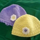 Hand knitted Purple Hat