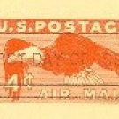US Postal Card 4 cent Orange Eagle Airmail First Day Issue SC UXC1