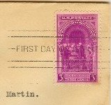 Washington Inauguration 3 cent Stamp FDI SC 854 First Day Issue