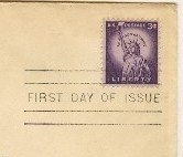 Statue of Liberty Stamp 3 cent FDI SC 1035 First Day of Issue