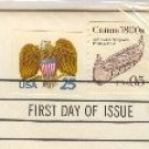 Canoe 1800s 5 cent Stamp Coil FDI SC 2453 First Day Issue