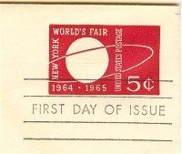 Envelope 1964 Worlds Fair 5 cent FDI SC U546 First Day Issue