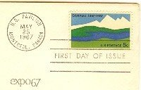 EXPO Montreal Canada 5 cent Stamp FDI SC 1324 First Day Issue