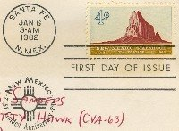 New Mexico Statehood 4 cent Stamp FDI SC 1191 First Day Issue