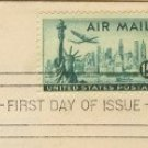 Statue of Liberty Air Mail 15 cent Stamp Lockheed Skyline FDI SC C35 First Day of Issue